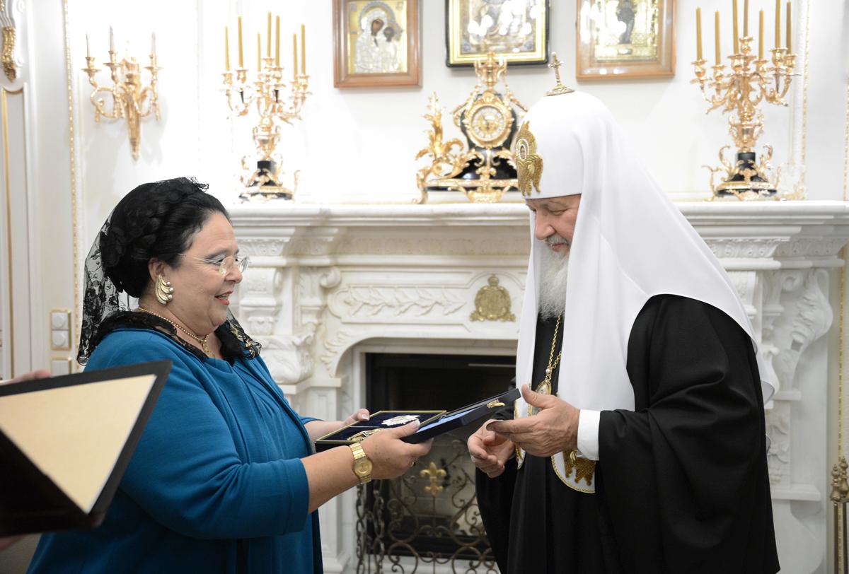 Встреча Святейшего Патриарха Кирилла с главой Российского императорского дома великой княгиней Марией Владимировной