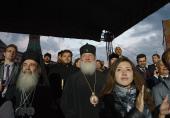 Блаженнейший Патриарх Иерусалимский Феофил и Святейший Патриарх Кирилл посетили концерт на Красной площади, посвященный Дню славянской письменности и культуры