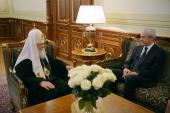 Святейший Патриарх Кирилл принял почетного председателя Демократической партии Сербии