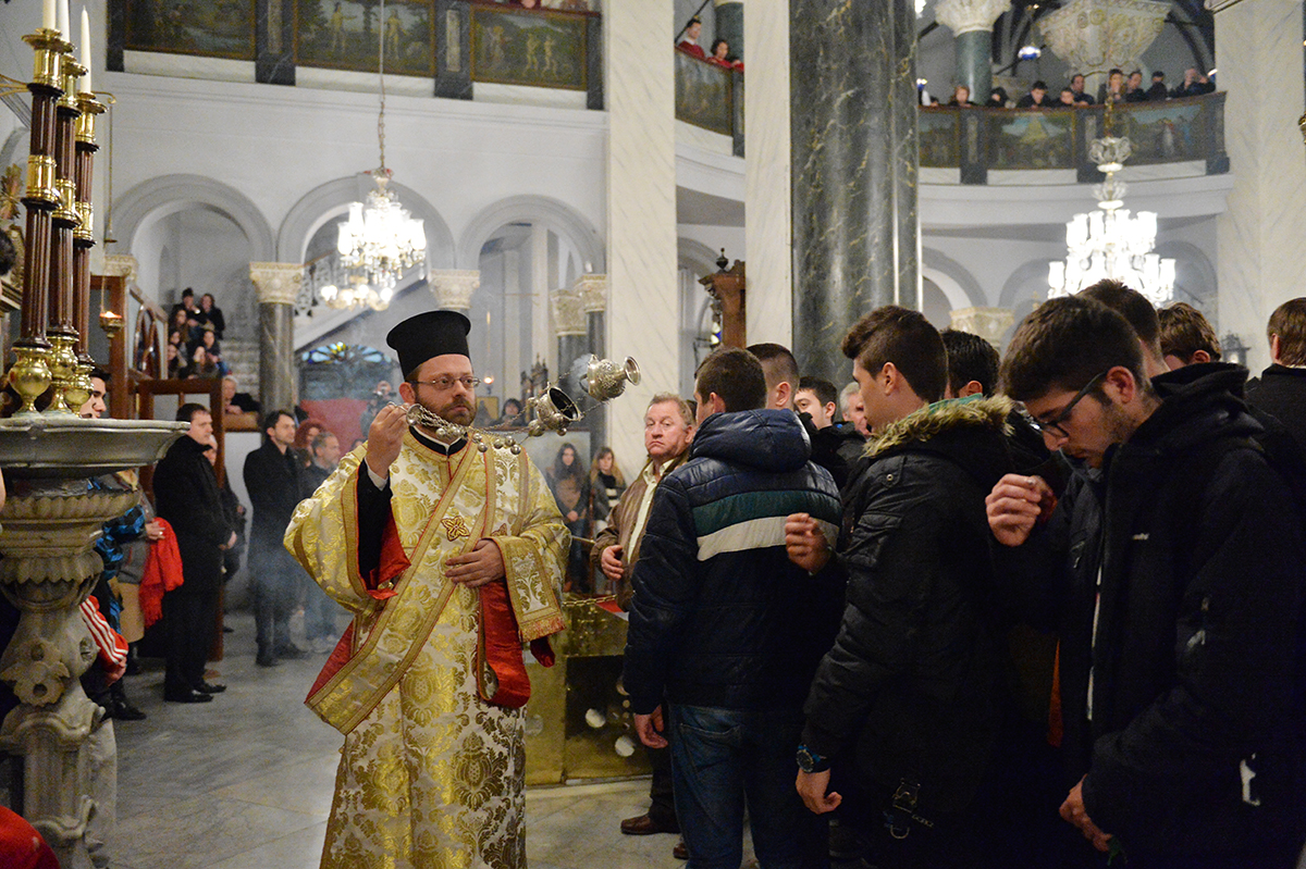 Визит Святейшего Патриарха Кирилла в Константинопольский Патриархат. Вечернее богослужение по окончании второго дня работы Синаксиса