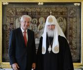 Святейший Патриарх Кирилл встретился с Генеральным секретарем Совета Европы Турбьёрном Ягландом