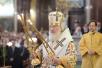 Патриаршее служение в Храме Христа Спасителя в годовщину избрания святителя Тихона на Патриарший престол. Хиротония архимандрита Василия (Данилова) во епископа Котласского