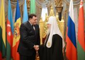 Состоялась встреча Святейшего Патриарха Кирилла с Президентом Республики Сербской Милорадом Додиком