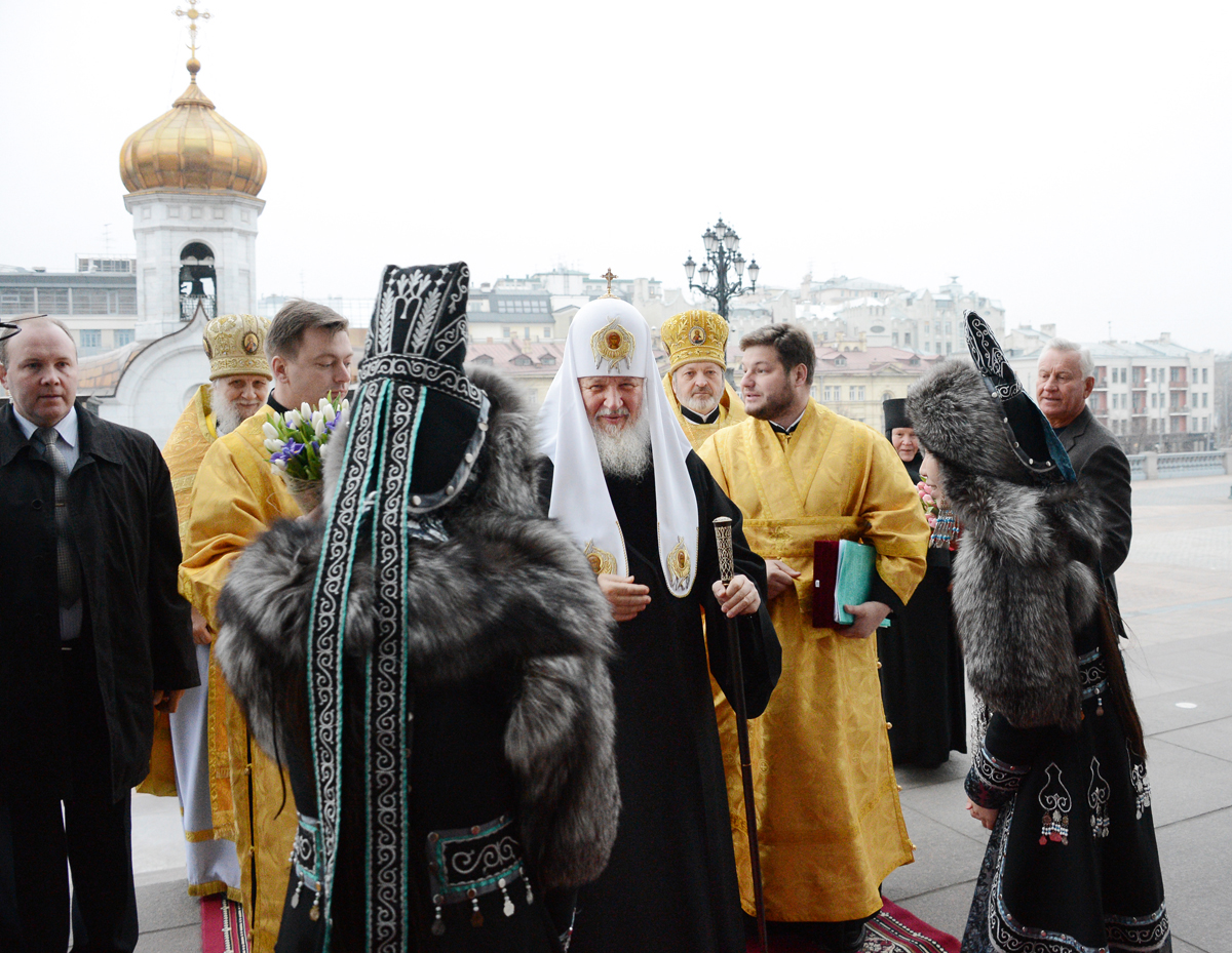 Церковные торжества, посвященные 380-летию вхождения Якутии в состав Российского государства. Патриаршее служение в Храме Христа Спасителя