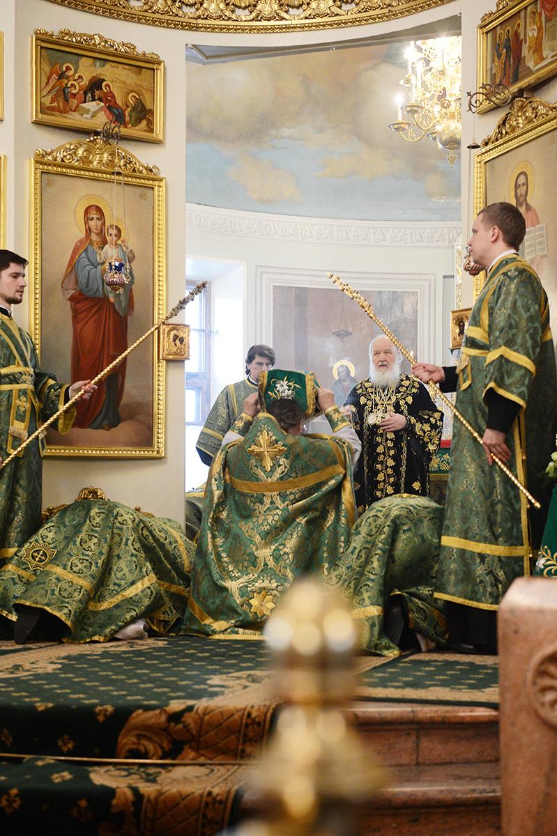Патриаршее служение в день памяти благоверного князя Даниила Московского в Даниловом ставропигиальном монастыре