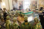 В день памяти благоверного князя Даниила Московского Святейший Патриарх Кирилл совершил Литургию Преждеосвященных Даров в Даниловом ставропигиальном монастыре