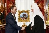 Святейший Патриарх Кирилл встретился с послом Болгарии в России Бойко Коцевым
