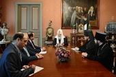 Святейший Патриарх Кирилл встретился с послом Сирии в России