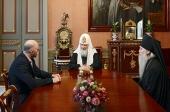 Святейший Патриарх Кирилл встретился с губернатором Забайкальского края К.К. Ильковским