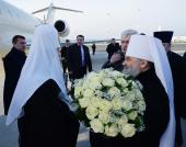 Святейший Патриарх Кирилл прибыл в Санкт-Петербургскую митрополию