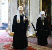 Слово Святейшего Патриарха Кирилла при посещении Троицкого собора Александро-Невской лавры