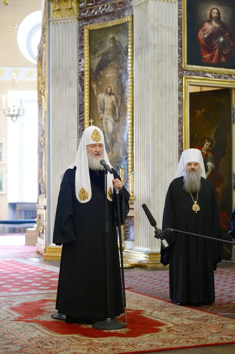 Патриарший визит в Санкт-Петербургскую митрополию. Посещение Александро-Невской лавры