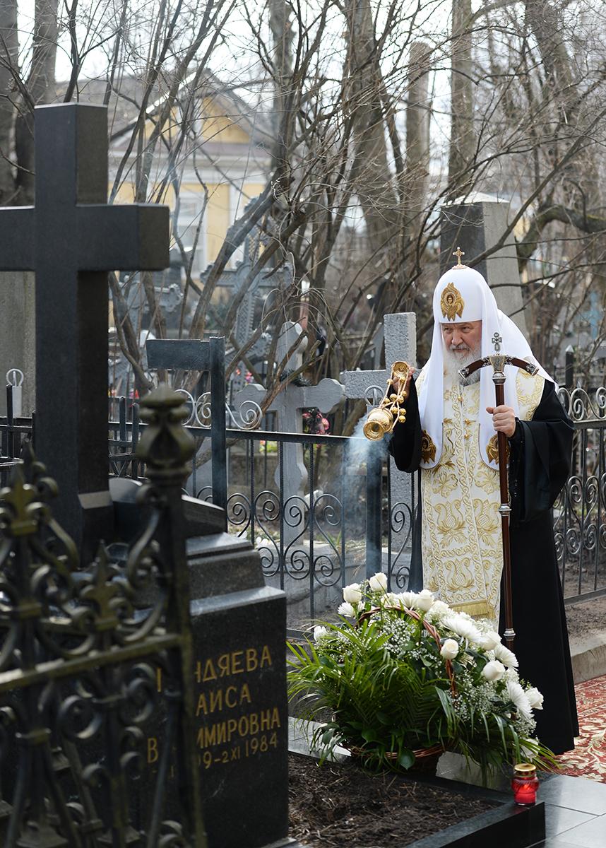 Патриарший визит в Санкт-Петербургскую митрополию. Посещение Большеохтинского Георгиевского кладбища Санкт-Петербурга