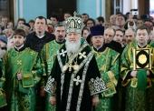 В день памяти преподобного Серафима Вырицкого Предстоятель Русской Церкви совершил Литургию в Покровском соборе г. Гатчины