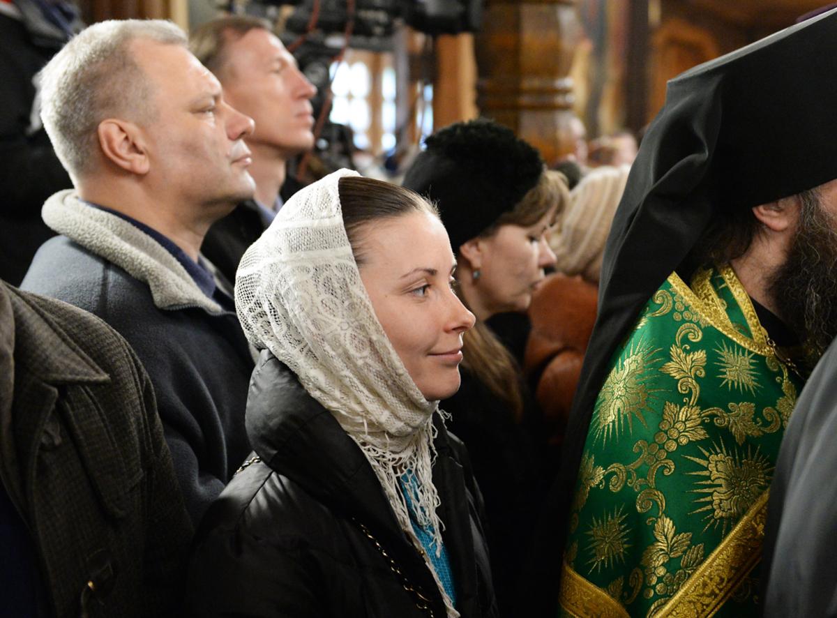 Патриарший визит в Санкт-Петербургскую митрополию. Молебен в Казанском храме в Вырице