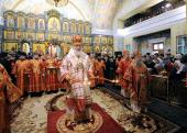 Предстоятель Русской Церкви совершил всенощное бдение в Свято-Троицком кафедральном соборе Екатеринбурга