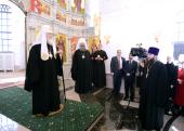 Святейший Патриарх Кирилл посетил храм-колокольню «Большой Златоуст» в Екатеринбурге