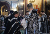 Патриаршее служение в среду Страстной седмицы в Храме Христа Спасителя