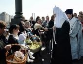 Святейший Патриарх Кирилл освятил куличи для благотворительной акции «Москва ветеранам»
