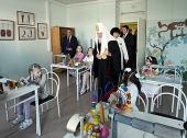 В праздник Пасхи Святейший Патриарх Кирилл посетил Центр детской психоневрологии г. Москвы