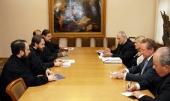 Митрополит Волоколамский Иларион встретился с канцлером Папской академии наук и главой организации Walk Free