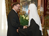 Состоялась встреча Святейшего Патриарха Кирилла с руководителем Россотрудничества К.И. Косачевым