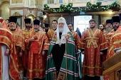 В неделю 2-ю по Пасхе Предстоятель Русской Церкви совершил великое освящение московского храма в честь иконы Божией Матери «Знамение» в Ховрине