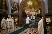 В Великую субботу Предстоятель Русской Церкви совершил Литургию Василия Великого в Храме Христа Спасителя