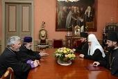 Святейший Патриарх Кирилл встретился с Верховным Патриархом и Католикосом всех армян Гарегином II