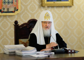 Святейший Патриарх Кирилл: «Одна из самых важных забот нашей Церкви сегодня — это молитвы и труды, связанные с происходящим на Украине»