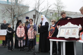 В праздник Пасхи Святейший Патриарх Кирилл посетил Социально-реабилитационный центр для несовершеннолетних Восточного административного округа г. Москвы