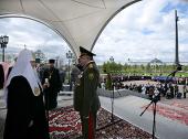 Святейший Патриарх Кирилл принял участие в духовно-патриотической акции «Георгиевский парад — дети победителей»