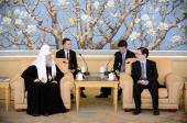Предстоятель Русской Православной Церкви встретился с директором Государственного управления КНР по делам религий