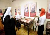 Святейший Патриарх Кирилл посетил выставку «Подвиг служения России царской династии Романовых» в Екатеринбурге