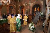 Святейший Патриарх Кирилл освятил в Кремле мемориальную доску в память о преподобной Евфросинии Московской