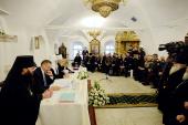 Святейший Патриарх Кирилл встретился с атаманами реестровых казачьих войск России, Украины и Белоруссии