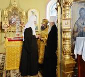 Святейший Патриарх Кирилл посетил храм святителя Алексия Московского в Егорьевске