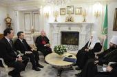 Святейший Патриарх Кирилл встретился с председателем Папского совета по делам семьи архиепископом Винченцо Пальей