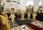 Предстоятель Русской Церкви совершил всенощное бдение в кафедральном соборе Христа Спасителя г. Калининграда