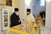 Святейший Патриарх Кирилл посетил храм свв. Космы и Дамиана и храм Рождества Пресвятой Богородицы в Калининграде
