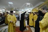 Святейший Патриарх Кирилл совершил освящение нового корпуса гимназии при кафедральном соборе Христа Спасителя в Калининграде