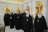 Члены Синода Русской Православной Церкви молились на литии по почившим Предстоятелям Антиохийской и Болгарской Православных Церквей