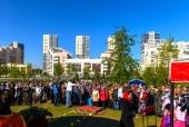Тысячи москвичей приняли участие в торжествах на Ходынском поле в честь 700-летия преподобного Сергия Радонежского