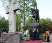 Святейший Патриарх Кирилл принял участие в церемонии открытия памятника святому благоверному князю Димитрию Донскому в Москве