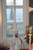 Патриаршее служение в день памяти св. мц. Татианы в домовом храме МГУ. Хиротония архимандрита Игнатия (Румянцева) во епископа Уваровского и Кирсановского