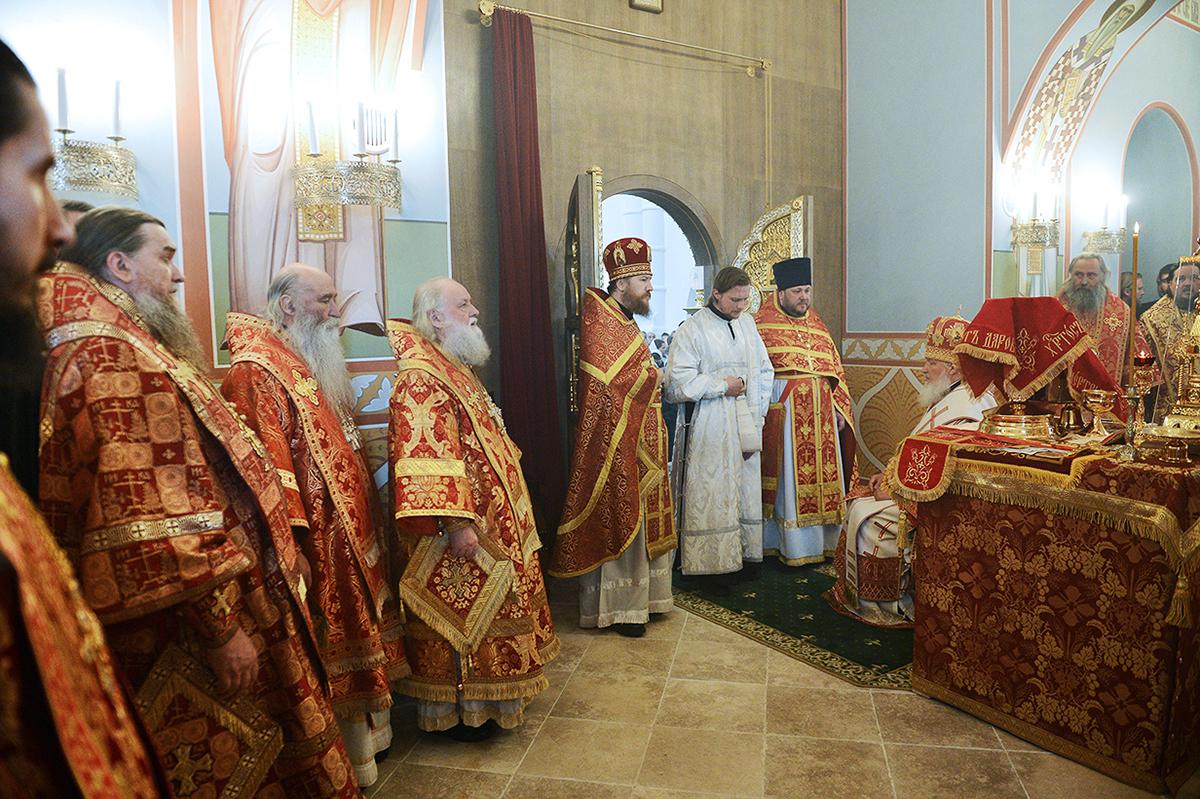 Патриаршее служение в Троице-Сергиевом Варницком монастыре