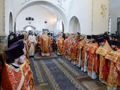 Святейший Патриарх Кирилл совершил Литургию в Марфо-Мариинской обители и возглавил хиротонию архимандрита Нестора (Люберанского) во епископа Кузнецкого и Никольского