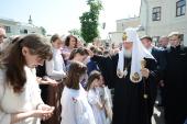 Предстоятель Русской Церкви посетил детское паллиативное отделение и Елизаветинский детский дом при Марфо-Мариинской обители