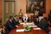 Предстоятель Русской Церкви принял Уполномоченного при Президенте Российской Федерации по правам ребенка