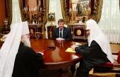 Святейший Патриарх Кирилл встретился с губернатором Псковской области А.А. Турчаком